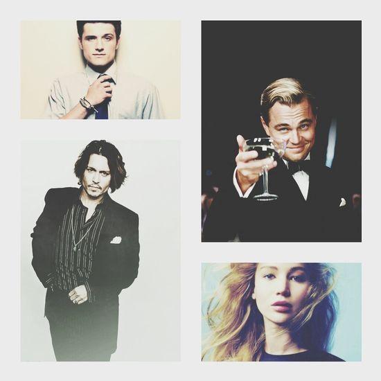 my perfect movie stars Johnnydepp Leonardodicaprio  Jennifer Lawrence Josh Hutcherson