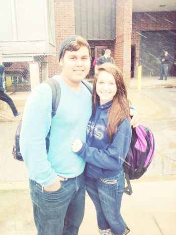 favorite Mexican :) its snowing!!