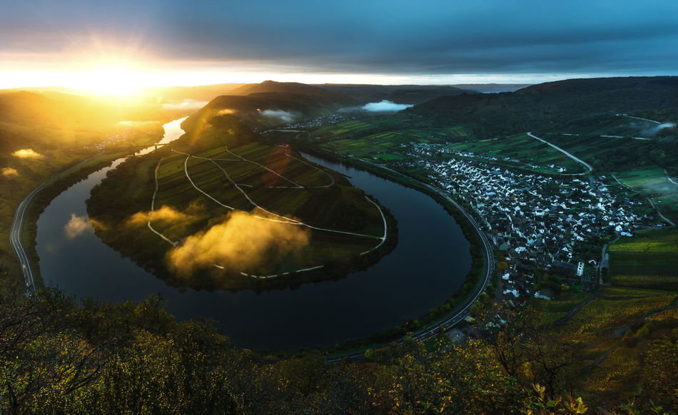 New Day Newday Morning Morning Light Sunrise Sunny Sunbeams Landscape Sonnenaufgang Landschaft Mosel River From Above  Water Moselle The Week On EyeEm Www.alexander-schitschka.de Germany Deutschland Sunlight Travel Destinations