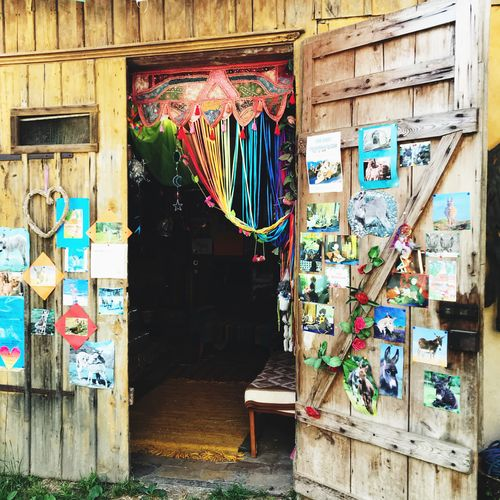 Multi Colored Graffiti Built Structure No People Architecture Wall - Building Feature Art And Craft Day Creativity Wall Wood - Material Entrance
