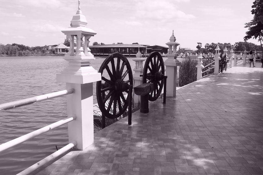 One Day Trip!!! Architecture Black & White Black And White Blackandwhite Built Structure City Cloud Cloud - Sky Day No People Outdoors Sky The Way Forward Tourism Travel Travel Destinations Traveling Walkway Water