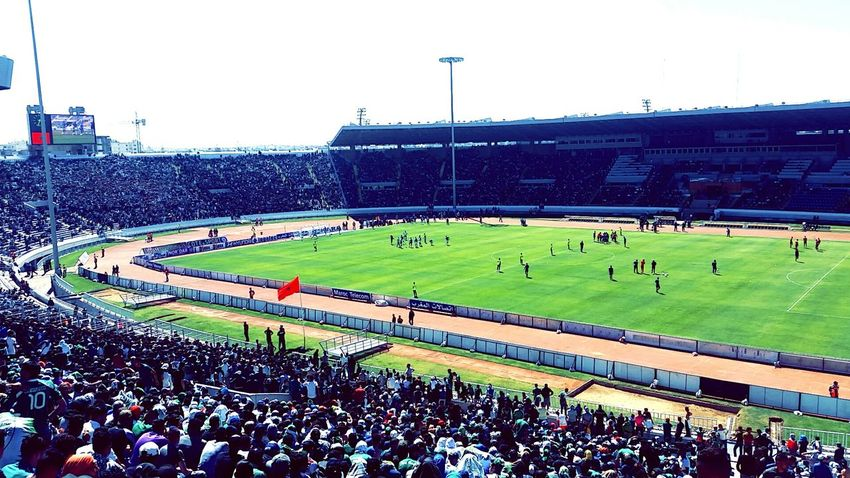 High Angle View Football Stadium Stadium Atmosphere Supporters Supporting My Team Sports Photography Sports Rajacasablanca Green StadeMohammedV Architecture Casablanca, Morocco