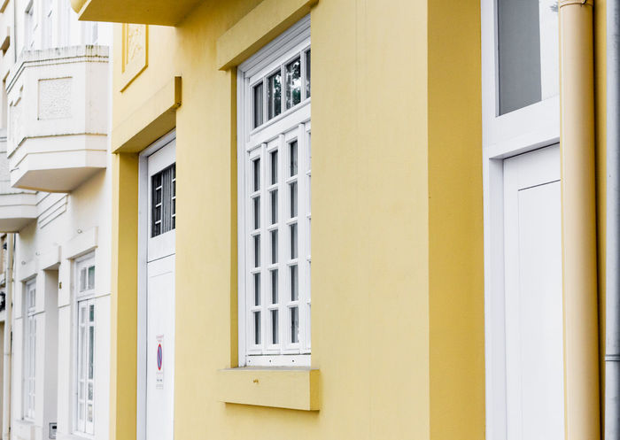 Geometric Building Yellow Color Spring Architecture Day Building Exterior Bestoftheday Yellow VSCO Colorblocking EyeEmNewHerе Outdoors❤ Architectural Feature Love in Guimarães