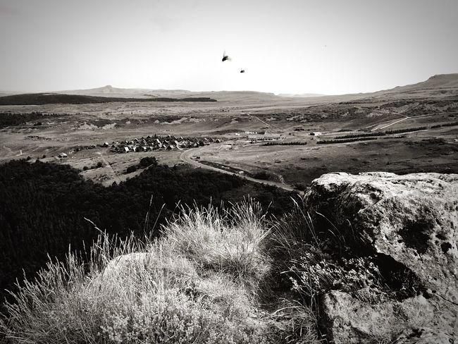 Vue sur les chalets du roc