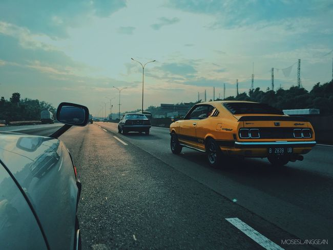 Morning run Retrocar MitsubishiGTO Morningru Oldschool Nostalgicheroes Street Speedhunters RallyArt Sunrise Boys Will Be Boys Everyday Lives Young And Wild Hello World YOLO ✌ INDONESIA Streetcar
