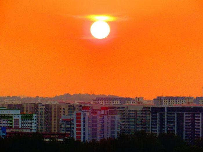 Sunset Lovers Urban Skyline Sunset Landscape Outdoors Sky Illuminated Nature The Week On EyeEm EyeEmNewHere Orange Sky