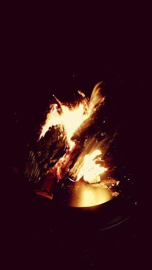 Bonfire Night Lit Burned My Self Relaxing
