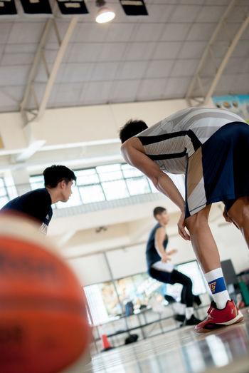 Photo taken at NU 8th floor or yung Gym. Basketball team ng NU. :) #indoor #truebluenationalian #portrait #DepthofField #color #symmetry #nuartapp #CIV155 #GroupSimplicity #PT1