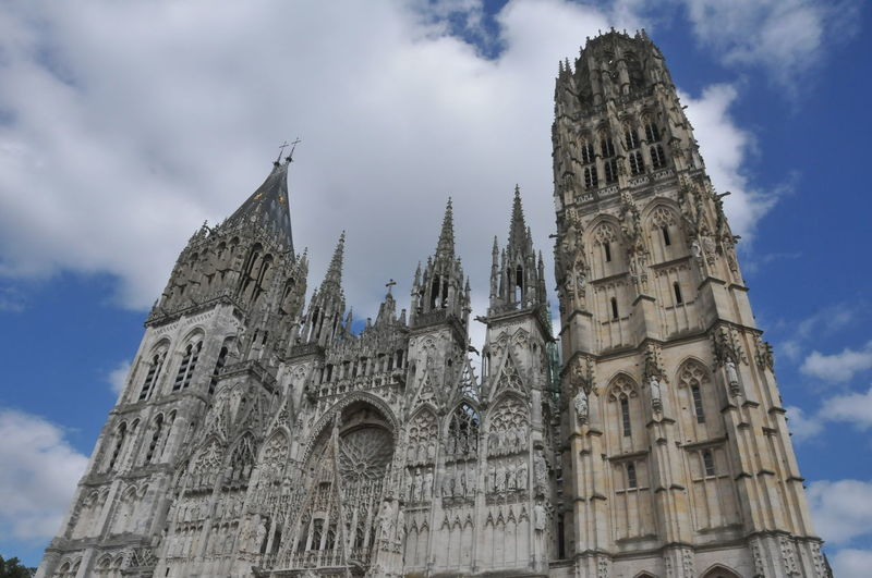 Cathedral France Rouen Architecture Built Structure Cloud - Sky Gothic Style History Low Angle View No People Place Of Worship Religion The Past Travel Destination