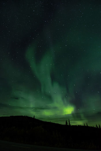 Fire in the night sky Aurora Aurora Borealis Lights Nature Nightphotography Alaska Astronomy Cold Green Color Landscape Nature Nightshot Sky Star - Space Stars The Week On EyeEm