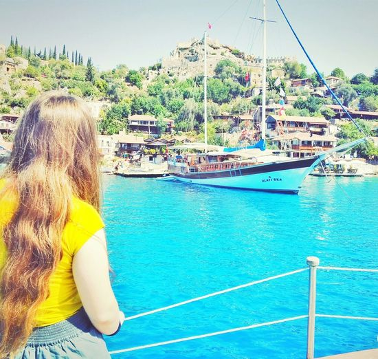 No Filter Day Backgrounds Turkey Yellow Sea Blue Beauty In Nature Nature Outdoors Sky Silhouette Sea And Sky Kekova Kalekoy Water Mysister❤️💁 Second Acts