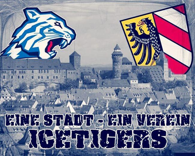 Nürnberg Icetigers Rot Und Blau Einlebenlang Tigers Geben Nimals Auf Mein Verein