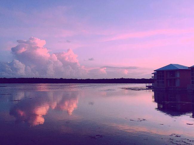 Rosa Abendtraum auf Kuba Water Reflection Sky Cloud Nature Beauty In Nature Sunset Cuba Caribbean Cayo Coco Cuba Carribean Sea Pink Pinksky First Eyeem Photo