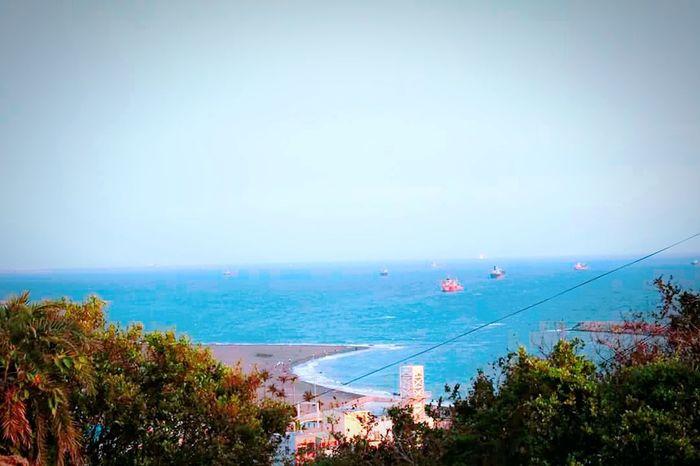 Sea Beach Tree Water Travel Destinations Beauty In Nature Blue Sky Heartshape