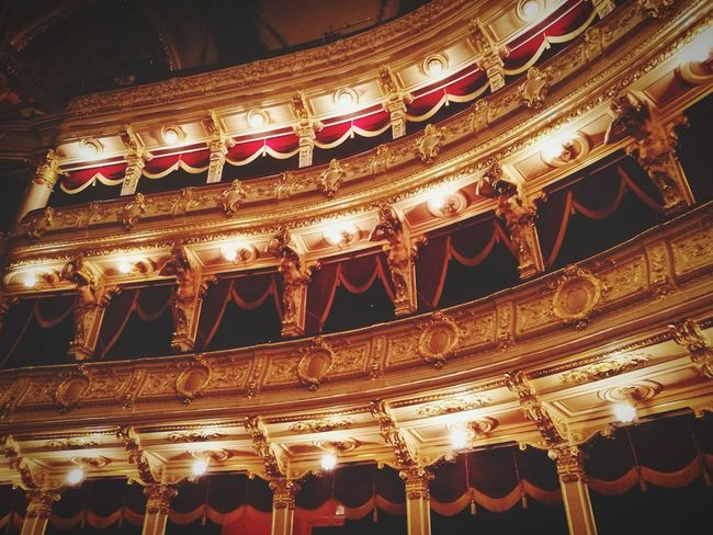 Theatrical Performance Stage Theater Nightlife Lighting Equipment Balcony Opéra Auditorium Event Stage - Performance Space Shiny Arts Culture And Entertainment Musical Theater  Performing Arts Event Cultures Comfortable No People Built Structure Night Luxury Indoors  Red Color Old Town Architecture