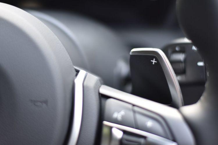 Close-up of a modern  car interior