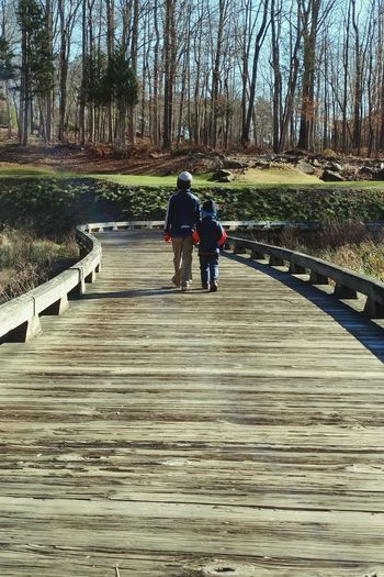 Wooden Bridge Brothers WalkingAway