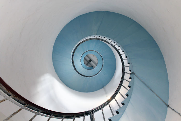 Lighthouse infinity Architectural Feature Architecture Blue Fine Art Photography Built Structure Design Directly Below Geometric Shape Geometry Infinity Lighthouse Low Angle View Modern No People Simple Spiral Spiral Staircase Staircase Stairs Steps And Staircases