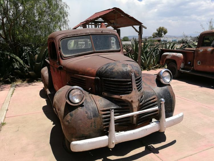 Old truck, farm, México, sky, Transportation Old-fashioned Retro Styled Outdoors Day Mode Of Transport Rusty Rural Scene