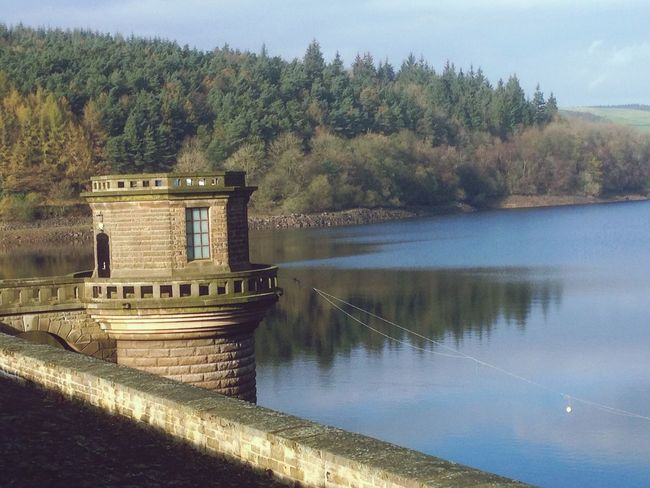 Lady Bower Dam Derbyshire England water