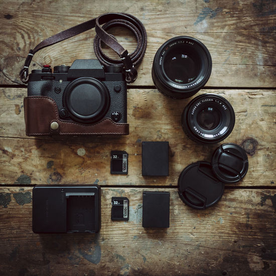 Gear up Camera Camera - Photographic Equipment Directly Above Equipment Flatlay Gear Indoors  Lens Lenses No People Photography Themes Retro Styled Table Technology