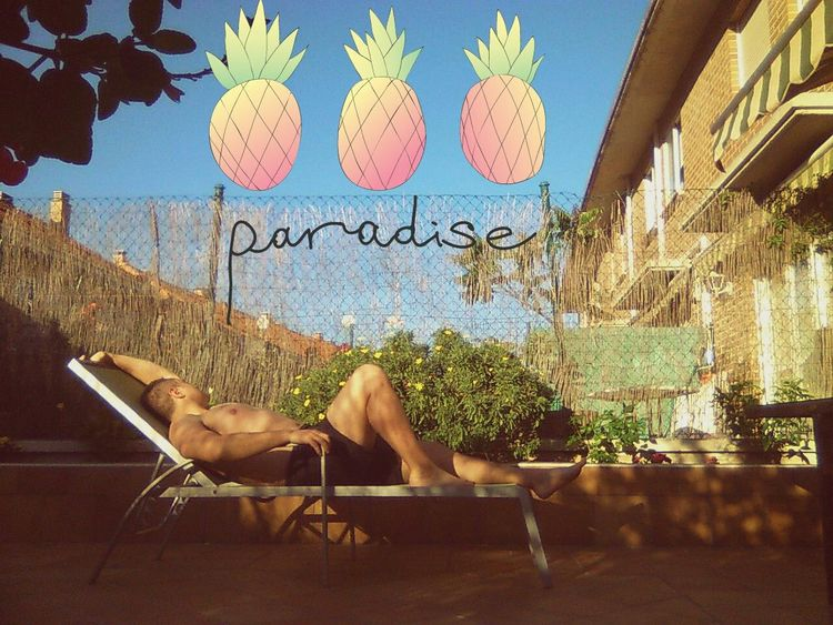 Paradise Paradise Summer Terrace Richboy Sunset Gay Gayboy Garden That's Me Relaxing
