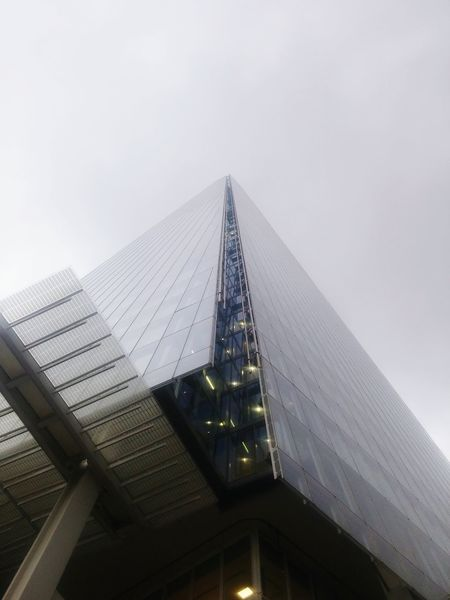 Architecture Built Structure Low Angle View Sky High Section Building Exterior Cloud Skyscraper Day No People Tall Development Rooftop shard London