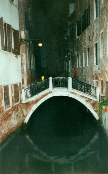 Venice, Italy vacation Cement Buildings Decorated Walkway Railing Shuttered Windows Light Leading The Way, This Week On EyeEM Tranquil Scene Fun Vacation, Beautiful Scenerary, Windows Looking Over Canal, Cool Breeze, No People Alley @ Night, Small Bridge Over Canal. Venice, Italy