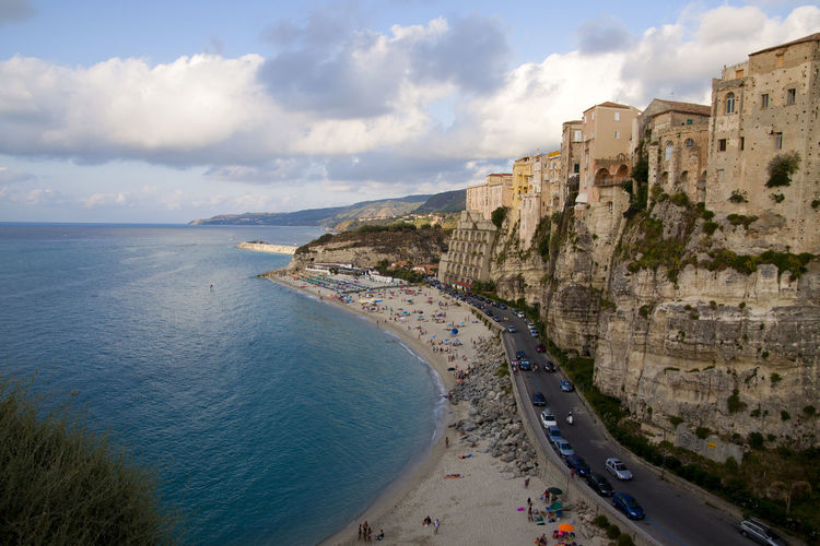 Coast of southern Italy Calabria (Italy) Coastline Nature Architecture Beach Beachphotography Beautiful Place ♥ Beauty In Nature Cloud - Sky Day Horizon Over Water Nature Old Buildings Outdoors Scenics Sea Sky To Travel ✈️ Water