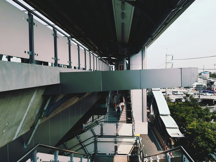 High angle view of bridge in city