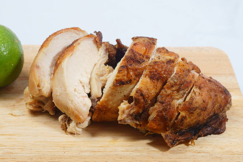 Cantonese Roasted Chicken Chicken Salt And Pepper Cantonese Chicken Chinese Cuisine Close-up Food Food And Drink Freshness Grinded Pepper Healthy Eating Indoors  Meat No People Ready-to-eat Roasted Roasted Chicken Serving Size Still Life Table White Background