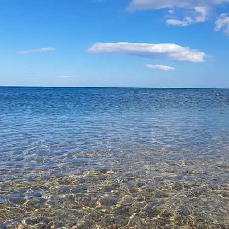 Summer shades Sea Beach Water Blue Sky Landscape Outdoors Horizon Over Water Tranquility Nature Summer Scenics Sand Vacations Cloud - Sky Day No People Low Tide Beauty In Nature Backgrounds Tranquility Beachphotography Calabria Ionio Ionio Sea Perspectives On Nature