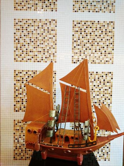 Building Exterior Architecture Built Structure City No People Outdoors Day Close-up Skyscraper Pinisi Ship Pinisi Miniature Traditional Ship Indonesia Traditional Ship Sailing Ship Phinisi Boat Pinisi Display