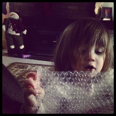 Who needs toys when you have bubble wrap?