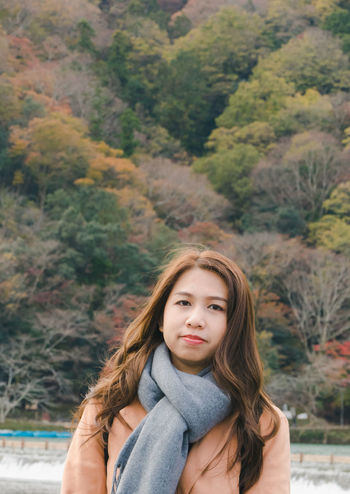 Arashiyama Beautiful Woman Close-up Day Focus On Foreground Looking At Camera Nature One Person Outdoors People Portrait Real People Standing Tree Young Adult Young Women