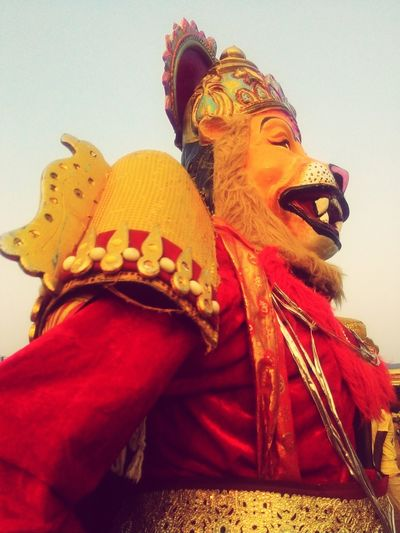 Narshima : Lion man. Traditional Clothing Dressing Up For Festival Season Lion Ferwell Religion Cultures EyeEm Best Shots Uniqueness JRPphotography Close-up Blooming Adult Different Styles Motivation Happiness @Koppal, Karnataka Carnival Crowds And Details EyeEmNewHere Art Is Everywhere