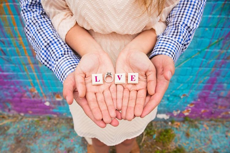 Text Human Hand Communication Human Body Part Togetherness Close-up Day Adult People Adults Only Outdoors Love Engagement Scrabble Couple Love ♥ Beautiful Amazing Colors