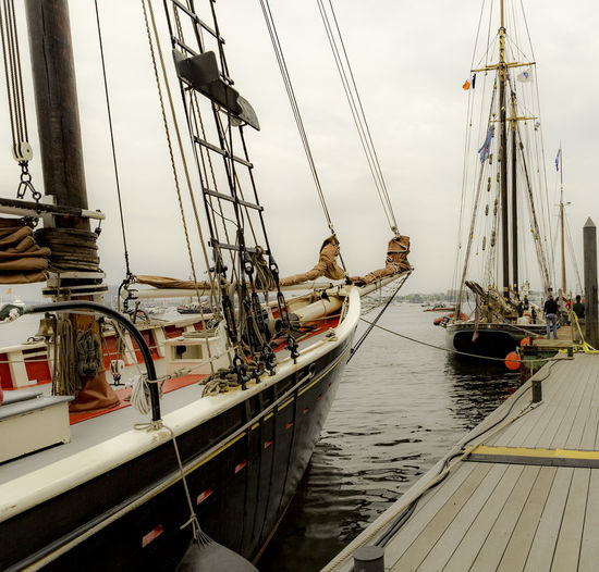 Essex Built Schooners Boston Harbor Bsotong Roseway Sail Bsoton Schooner Rosseway Boat Day Dockside Harbor Mast Mode Of Transport Moored Nautical Vessel No People Outdoors Rope Sail Boston Sail Boston 2017 Sailboat Sailing Sailing Ship Schooner Sky Tall Ship Transportation