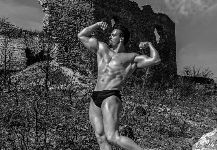 Monochrome Photography BodyBuilder Gesturing Person Monochrome Old Castle Ruins Ruins Architecture Body & Fitness Bodyart Body Curves  Body Curves  Musculation  Muscular Blackandwhite Black And White Blackandwhite Photography Bodybuilding Motivation bodybuilding fitness training BodybuilderLifeStyle Bodybuiling Muscleman Ruin Schwarzenegger Shadow Uniqueness Welcome To Black Break The Mold The Portraitist - 2017 EyeEm Awards The Week On EyeEm This Is Masculinity