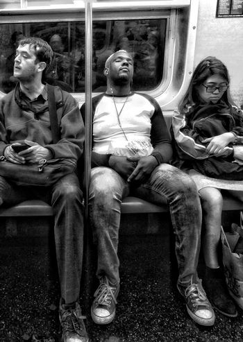 Raw Sitting Indoors  Full Length Day Adult RealPeople Young Adult Architecture Urban Landscape NYC Subway Mixed Use Built Structure