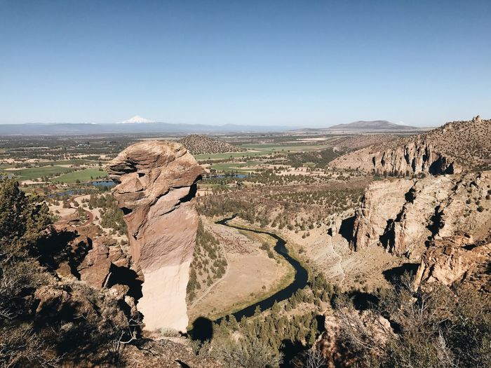 Smith Rock State Park Blue Sky Blue Sky Climbing Crooked River Deschutes County Monkey Face Smith Rock State Park Hiking Hike Oregon Rock Landscape View View From Above Horizon No People River