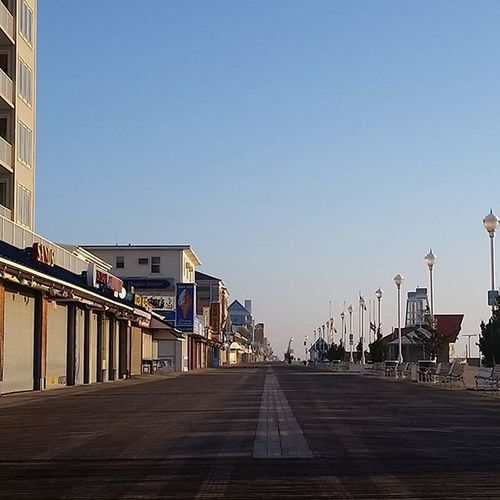 Quiet morning on the boards... Oceancitycool OceanCity Maryland Ocmd Boardwalk
