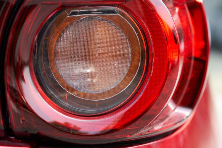 Close-up of red camera