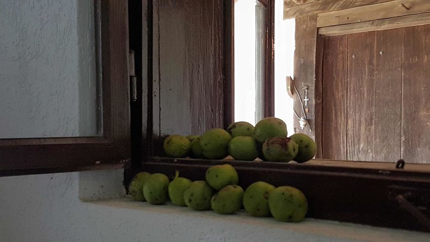 EyeEm Nature Lover Window Vilage House Details Built Structure Old House Day Vintage Moments Architecture Old But Good Indoors  Green Color Windows And Doors Fruits Freshness Day No People No Filter