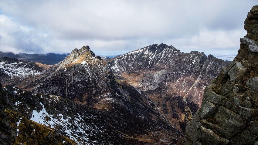 Arran  Colours Goatfell  Scotland Winter Mountains Island Mountain Range Snowcapped Mountain Go Higher