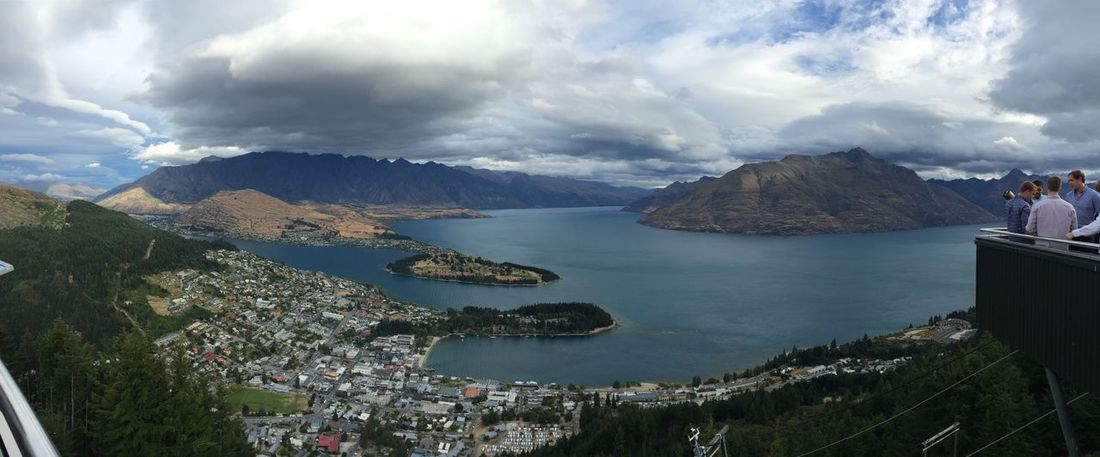 Blue Boat Boats Lake Lake Wakatipu The Tourist Landscape Mountain Mountain Range Mountain View Mountains Nature Outdoors Outside Overlook Rock Rocks Scenic Sea The Remarkables Town Tranquil Trees Water Waterfront