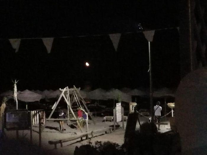 Sarde Sardegna Mare Spiaggia Notte Luna Luna Rossa Porto Corallo Tower City Tent Sky