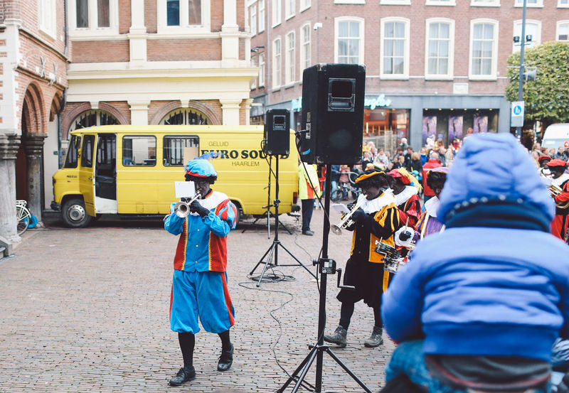 Celebration City Day Festival Festival Season Grote Markt Netherlands Occupation Outdoors People Protective Workwear Saint-Nicolas Sint-Nicolaas Sinterklaas Working Zwarte Piet