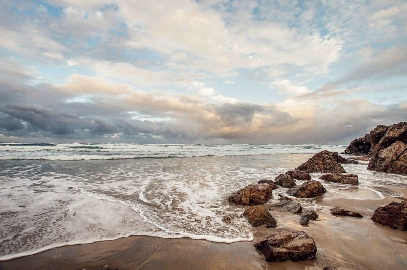 Beach Water Sea Land Sky Beauty In Nature Scenics - Nature Cloud - Sky Tranquil Scene Tranquility Sand Nature No People Non-urban Scene Idyllic Sport Horizon Over Water Day Outdoors
