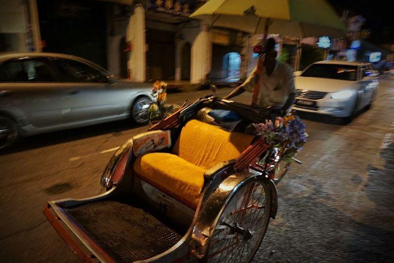 Riksha Malaysia Pulau Penang Georgetown Night